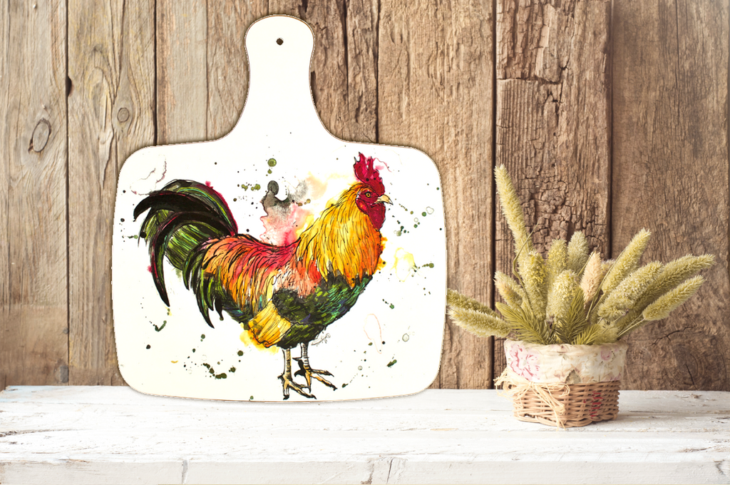 Large Cockerel Chopping Board