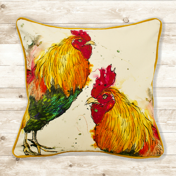 Cockerel Cushion Cover
