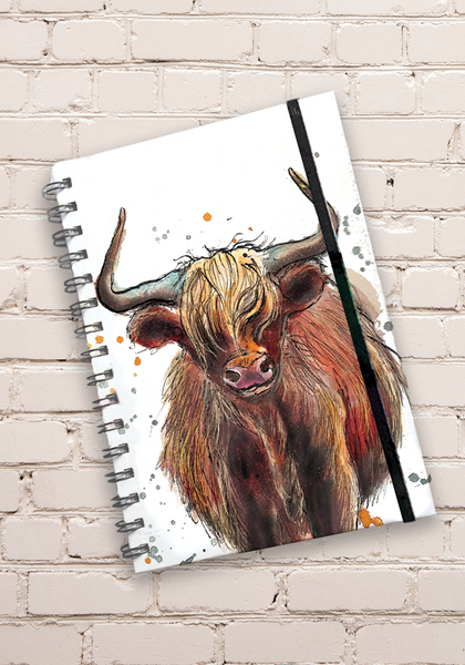 A5 Cow Hardback Spiral Bound Notebook