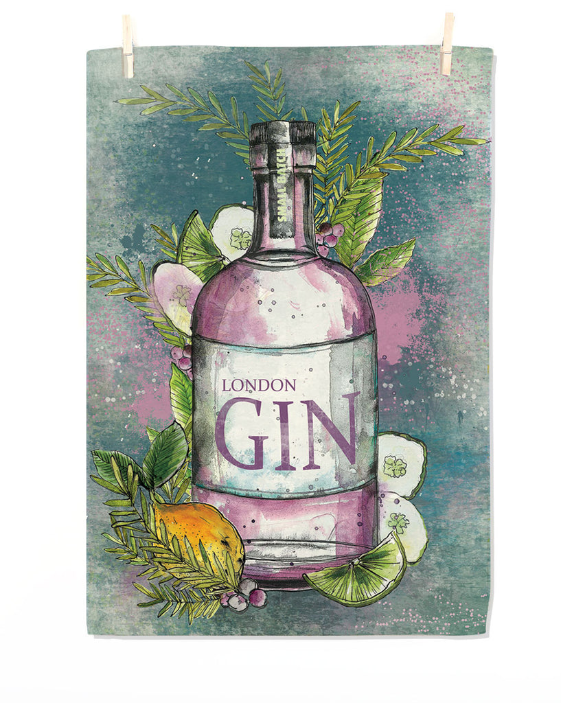 London Gin Tea Towel