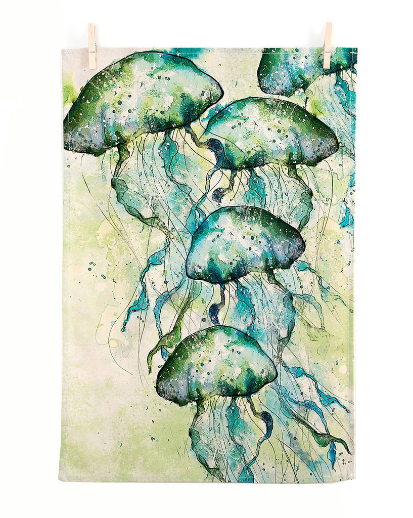 Jellyfish Tea Towel