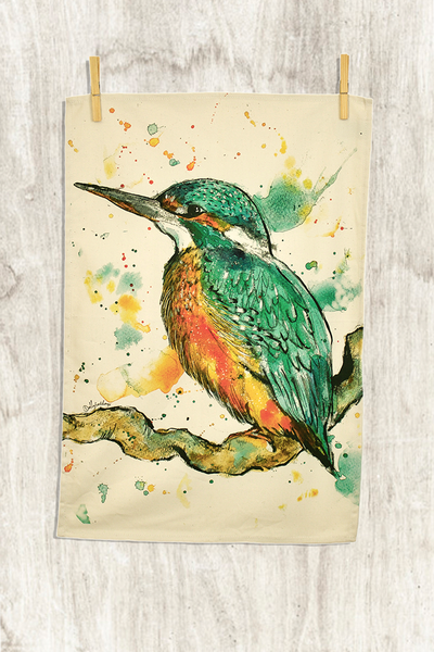 Kingfisher Tea Towel