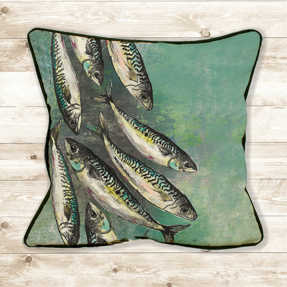 Mackerel Shoal Cushion Cover
