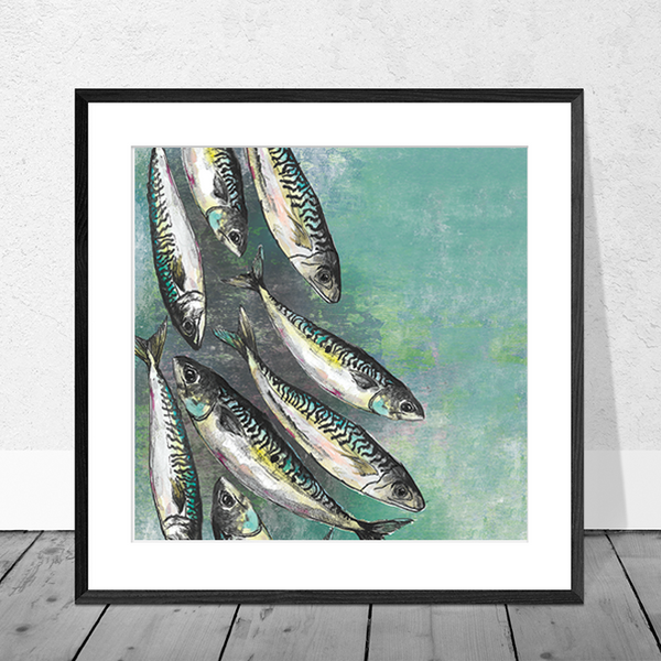 Mackerel Shoal Art Print