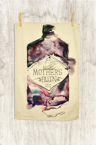 Mother's Ruin Gin Tea Towel