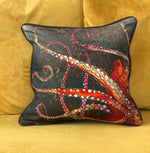 Red Octopus Cushion Cover