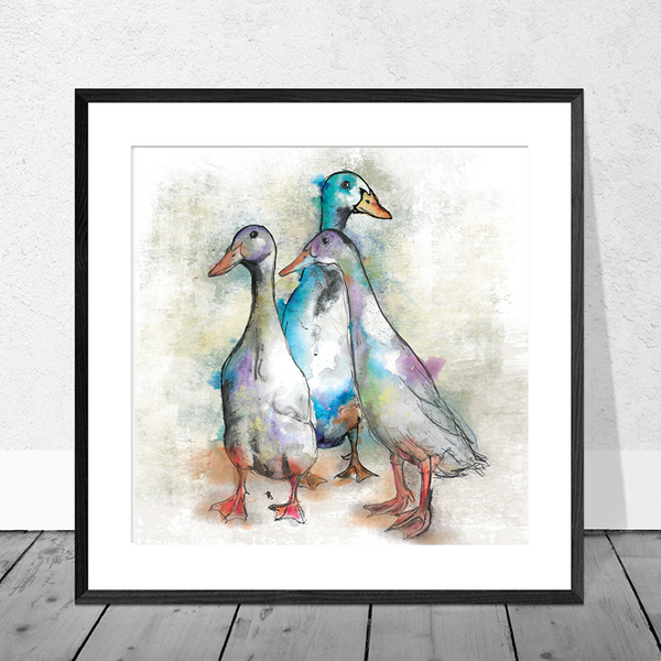 Runner Duck Art Print