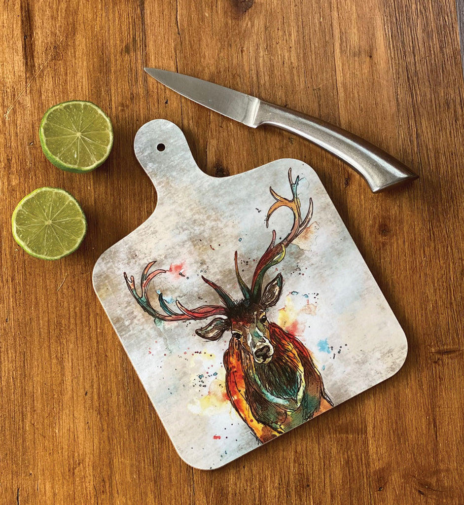 Small Stag Chopping Board