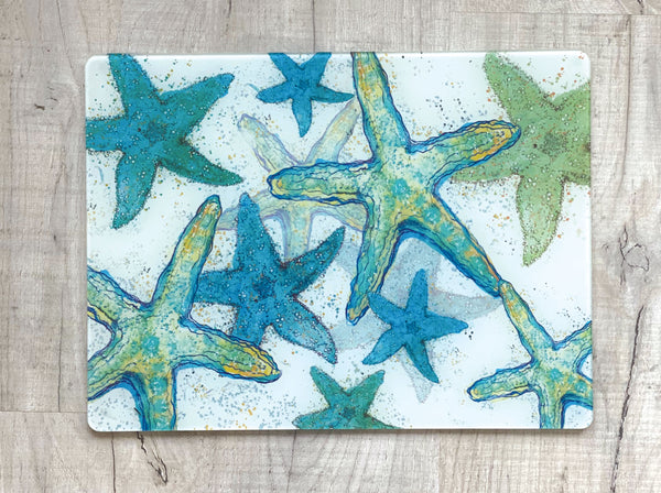 Glass Workstop Saver with Beautiful Starfish Design