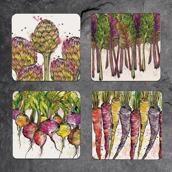 Set of 4 mixed vegetable placemats
