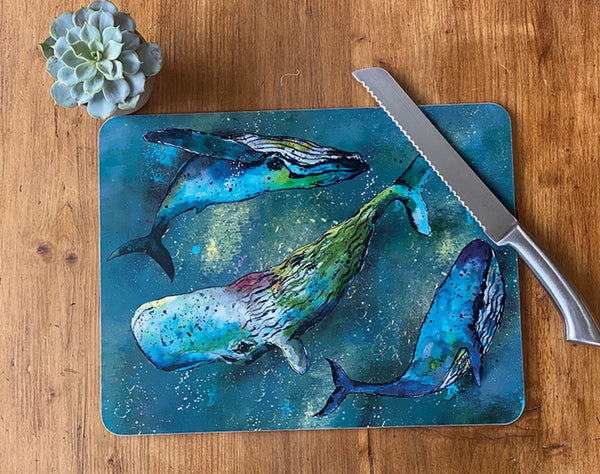 Large Whale Centre Table Mat
