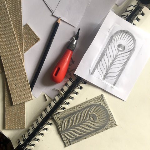 Rory Hutton X The Wallace Collection, Lino carving process