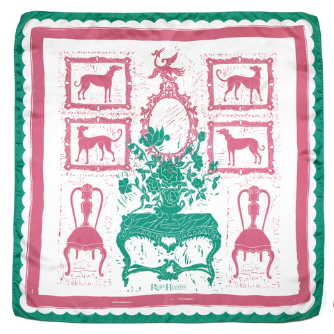 Rococo Hounds Scarf