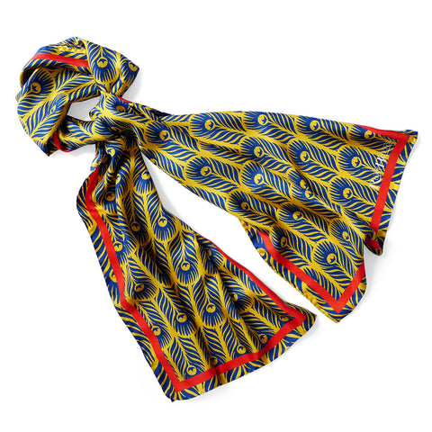 Rory Hutton X The Wallace Collection, Yellow Peacock Scarf