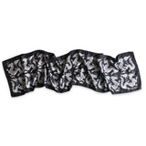 Long Dragon Scarf Black/White
