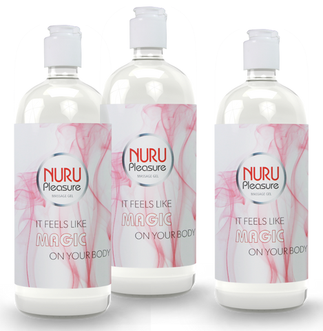 TRHEE BOTTLES OF NURU GEL CLASSIC 250 ML
