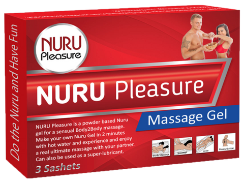 Nuru Pleasure Powder 6 packets in 2 box good for 3 liters / 101,4 Oz Nuru Gel.