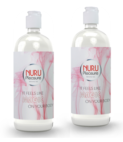 TWO BOTTLES OF NURU GEL CLASSIC 250 ML