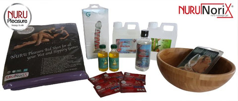 Nuru pleasure gift box with everything you need to start with (nuru) massages