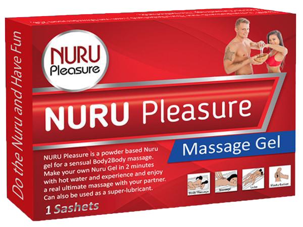 Nuru Pleasure Powder 1 Packet for 500 ml /16,9 Oz Nuru Gel