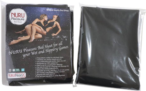 3 x NURU PLEASURE POWDER + PU BEDSHEET 220 X 250 cm available in multiple colors