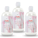 Three bottles of Nuru Gel classic 450 ml
