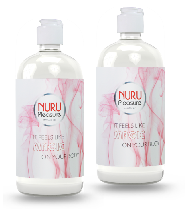 Two bottles of nuru gel classic 450 ml