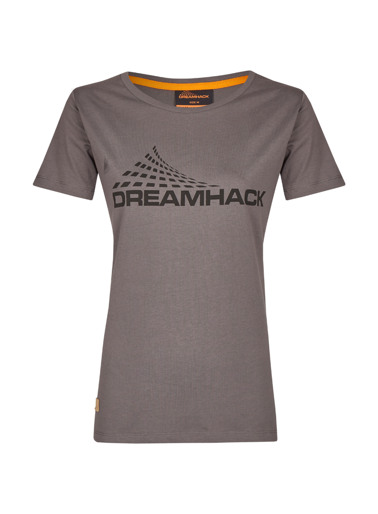 DreamHack Original female T-Shirt (Dark Grey with black logo)