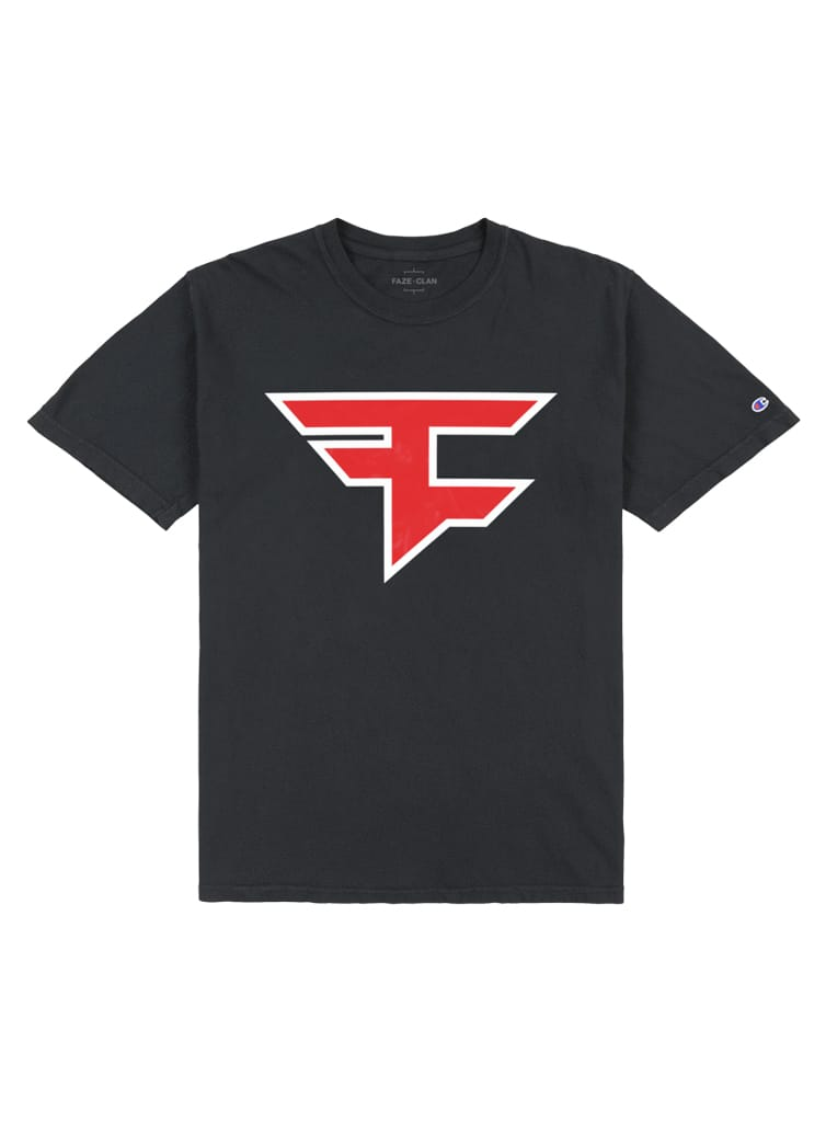 Faze Clan x Champion Logo T-shirt Black