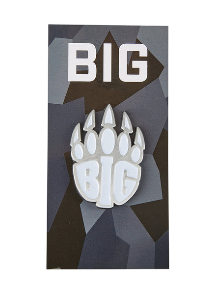 BIG Logo Pin White