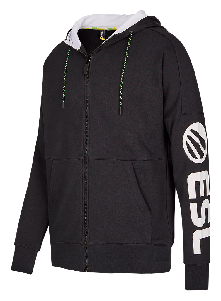 ESL Premium Zip Up Hoodie Sleeve Print black