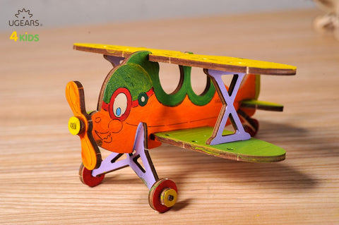 UGEARS 4 Kids - 3D Colouring Model Biplane