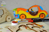 UGEARS 4 Kids - 3D Colouring Model Car