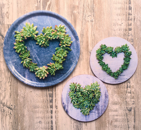 Heart themed coasters & pot stands - Crafters Market