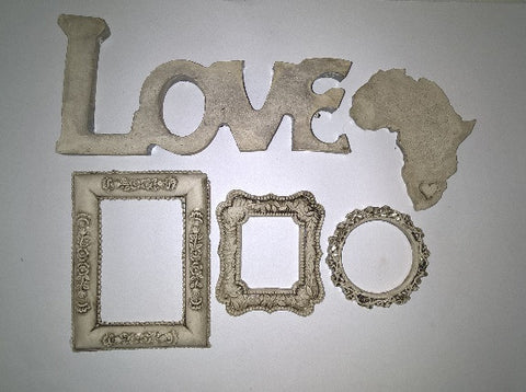 Ceramic Insert Pack - Love/Africa/Frame - Crafters Market
