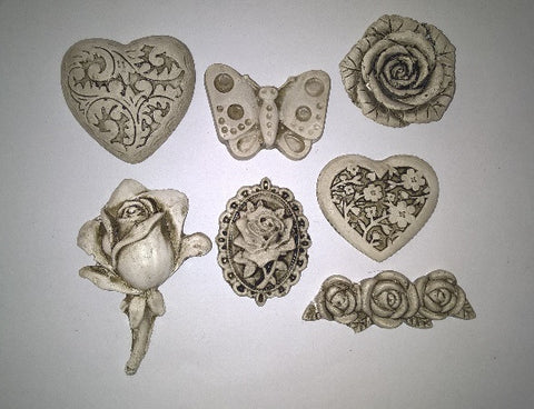 Ceramic Insert Pack - Flowers/Butterfly/Heart - Crafters Market