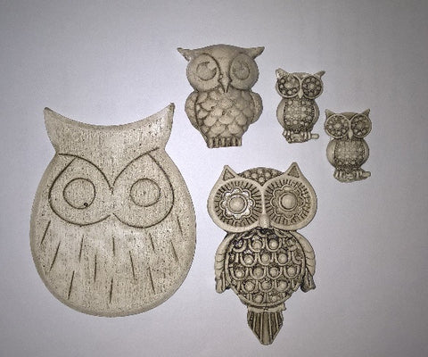 Ceramic Insert Pack - Owls - Crafters Market