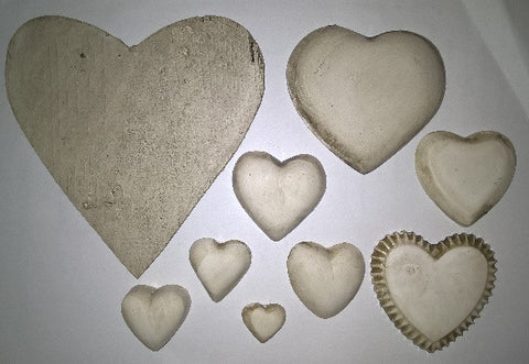 Insert Pack - Ceramic Hearts Solid - Crafters Market