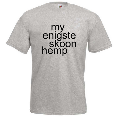 """My Enigste Skoon Hemp"" T-shirt - Crafters Market"