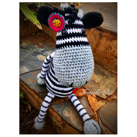 Crocheted Zoey the Zebra - Crafters Market