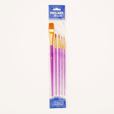 Golden Taklon Paint Brush Set - Crafters Market