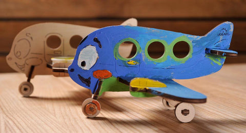 UGEARS 4 Kids - 3D Colouring Model Airplane - Crafters Market