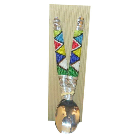 Beaded Salad Servers - Crafters Market