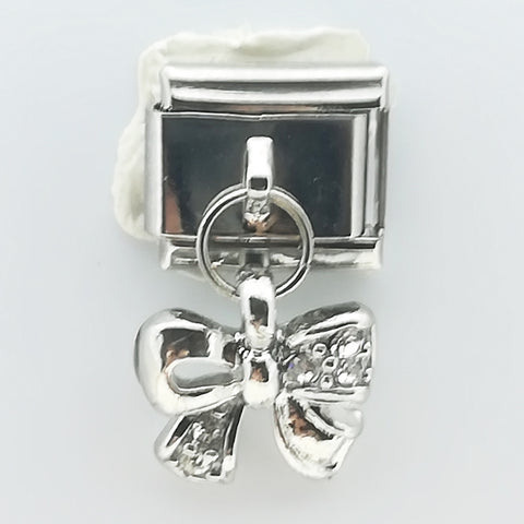Nomination Style Bracelet Charm - Hanging Bow - Crafters Market