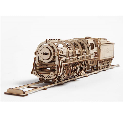 Steam Locomotive with Tender - UGEARS - Crafters Market