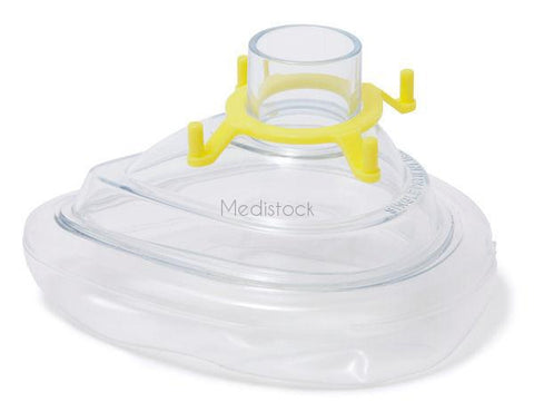 Anaesthetic Face Mask, Size 3: Small Adult (with Yellow hook ring) 50 Box | £54.00