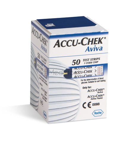 ACCU-CHEK Aviva Test Strips, 50 Box