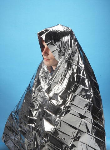 Blanket, Thermal Space Foil Emergency First Aid Blanket, Adult ,each | £0.79