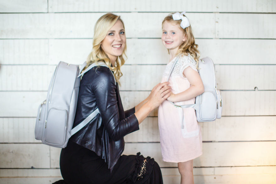 Our new Mommy and Me Mini Jenny backpack is out.... and Anna Saccone Joly and Emilia love it!