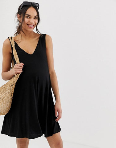 ASOS DESIGN Maternity ultimate swing dress with concealed pockets